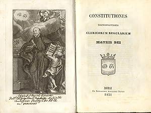 CONSTITUTIONES CONGREGATIONIS CLERICORUM REGOLARIUM MATRIS DEI.
