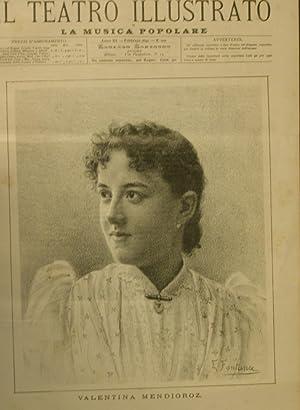 Ritratto in xilografia della cantante Valentina Mendioroz.