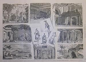 Xilografia raffigurante alcune scene e i personaggi principali della prima esecuzione assoluta di &...
