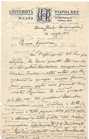 Due lettere autografe dello scrittore Savino Varazzani.