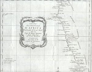 COSTA OCCIDENTALE D'AFRICA. Dal grado XI° di Latitudine Meridionale fino al Capo di Buona ...
