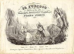 IL FURIOSO (1833). Opera in due atti ridotta per Piano-Forte (Pl.n°115-127).: DONIZETTI Gaetano...