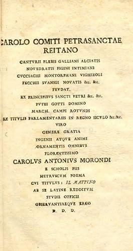 HETRUSCUM POEMA CUI TITULUS: IL MATTINO; LATINE REDDITUM.: PARINI Giuseppe.