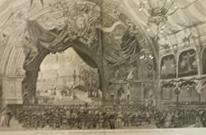 """Xilografia raffigurante la """"Ode trionfale in onore del centenario del 1789"""", poesia e ..."""