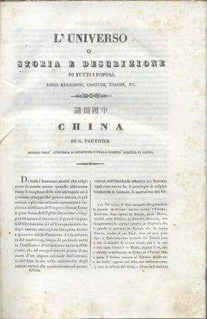 CHINA. L'Universo Pittoresco. (1838).: PAUTHIER G.