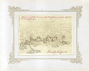"""Fotografia originale raffigurante una """"Banda bulgara"""", con cinque """"Morti in ..."""