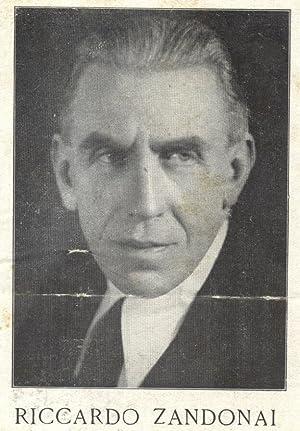 ZANDONAI. Raccolta originale di ritagli di giornale e cartoline d'epoca. 1919-1933.