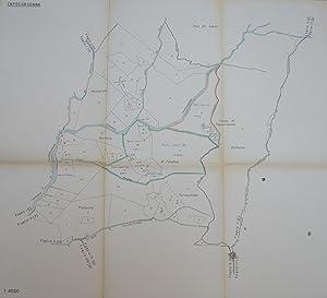 Fogli di mappa di località Capocorsonna in Comune di Barga.