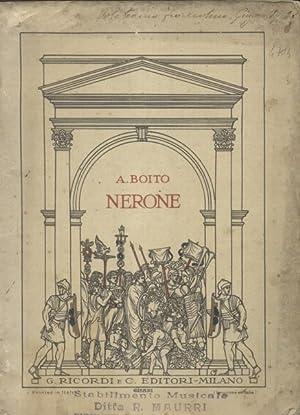 NERONE (1924). Tragedia in quattro atti. Libretto d'opera. timbro a secco Febbraio 1927.: ...