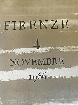 FIRENZE 4 NOVEMBRE 1966. 12 litografie a colori di Luciano Guarnieri con prefazione e una ...