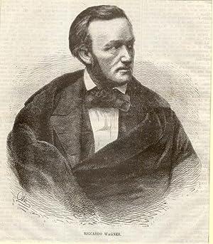 Ritratto in xilografia di Richard Wagner. Fine del XIX secolo.