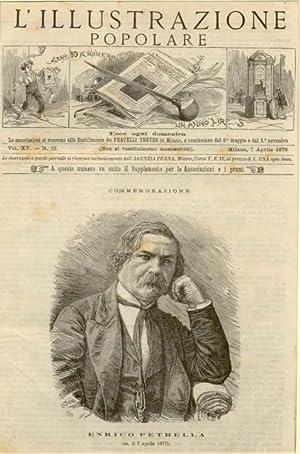 Incisione originale raffigurante il musicista Enrico Petrella.