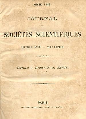 JOURNAL DES SOCIÉTÉS SCIENTIFIQUES. 1885-1886.