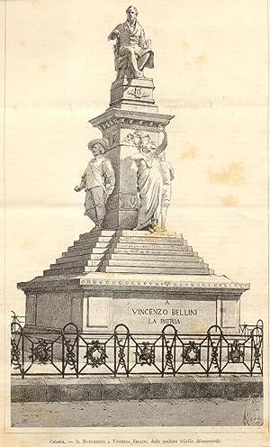 IL MONUMENTO A VINCENZO BELLINI A CATANIA. Opera dello scultore Giulio Monteverde.