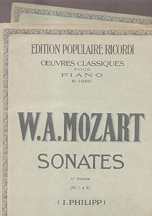 SONATES. Riduzioni per Pianoforte, n°1-18. timbro a secco Gennaio-Maggio 1920 (Pl.n°115831-...