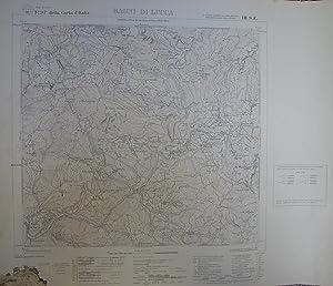 BAGNI DI LUCCA. Carta a cura dell'Istituto Geografico Militare. Foglio n°97 della Carta d&...