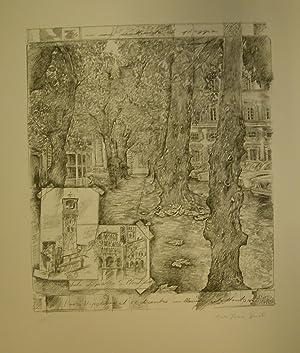 PIAZZA NAPOLEONE IL 1° DICEMBRE MELLENOVECENTOOTTANTASEI. Litografia originale di Maria Teresa ...
