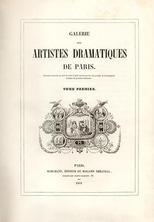 GALERIE DES ARTISTES-DRAMATIQUES DE PARIS. Quatre-vingts portraits en pied dessinés d'...