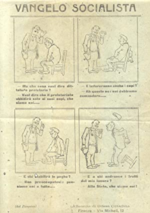 """VANGELO SOCIALISTA. Volantino satirico a cura della """"Alleanza di Difesa Cittadina"""", ..."""