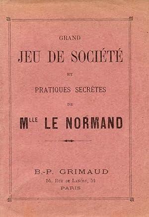 GRAND JEU DE SOCIETE' ET PRATIQUES SECRÈTES. 1930 circa.: Le NORMAND M.lle.