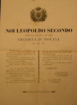 Notificazione originale, promulgata in data 22 giugno 1848 in cui si aboliscono le bandite di ...