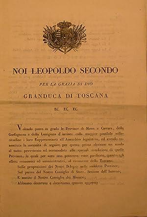 Editto originale promulgato in data 17 giugno 1848, in cui si annuncia la promulgazione dello ...