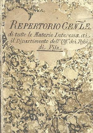 STATUTO DEL FOSSO DI PISA, 1475 / REPERTORIO GENERALE DI TUTTE LE MATERIE INTERESSANTI IL ...