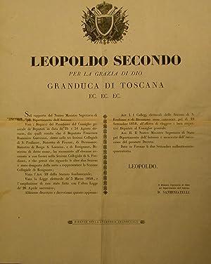 Editto originale di convocazione della Sezione Collegiale di Capannori per l'elezione del ...