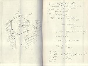 COURS D'EXPLOITATION DES MINES. Originale manoscritto di provenienza belga, in lingua francese...