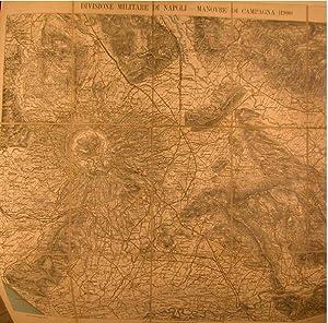 DIVISIONE MILITARE DI NAPOLI: MANOVRE DI CAMPAGNA 1900. Carta a cura dell'Istituto Geografico ...