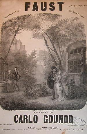 FAUST (1859). Dramma lirico in cinque atti. Riduzione per Pianoforte solo (Pl.n°13935).: GOUNOD...