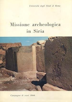 MISSIONE ARCHEOLOGICA ITALIANA IN SIRIA. Rapporto preliminare della campagna 1966 (Tell Mardich).