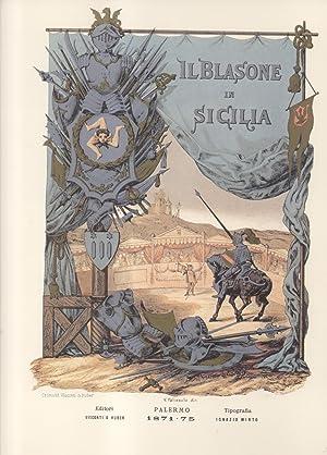 IL BLASONE IN SICILIA. Ossia Raccolta araldica.: PALIZZOLO GRAVINA Vincenzo.