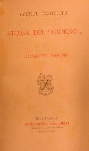 """STORIA DEL """"GIORNO"""" DI GIUSEPPE PARINI.: CARDUCCI Giosuè."""