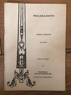 Weller & Dufty Arms & Armour Auction Wednesday 29th October 2003