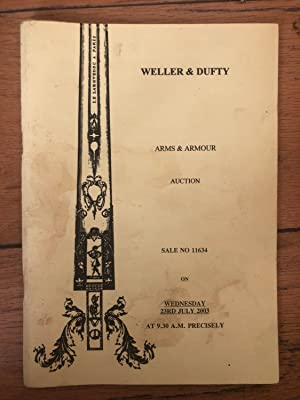 Weller & Dufty Arms & Armour Auction Wednesday 10th December 2003