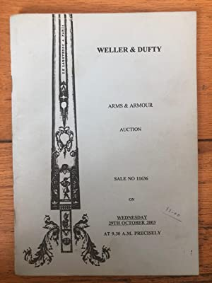 Weller & Dufty Arms & Armour Auction Wednesday 10th September 2003