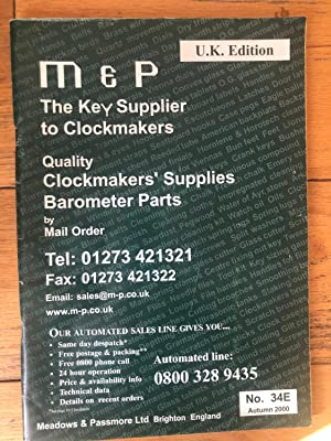 M & P The Key Supplier To Clockmakers Autumn 2000
