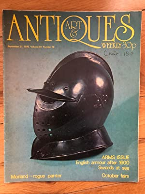 Antique & Art Weekly September 27, 1975, Volume 20 No.10