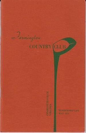 Farmington Country Club, Members List, 1973: Farmington Country Club