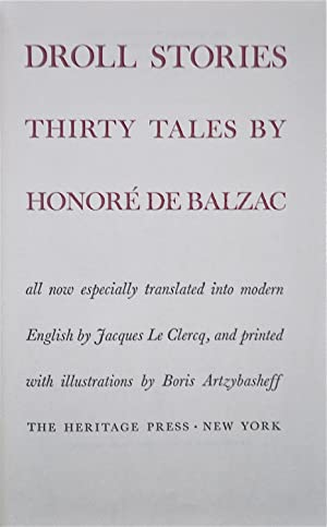 Droll Stories Thirty Tales: Balzac, Honoré De