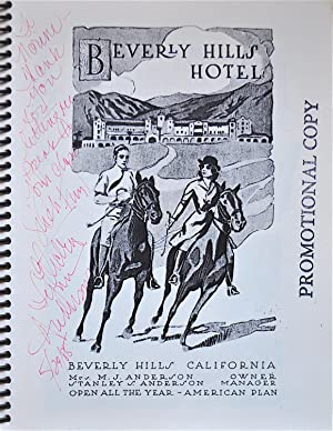 The Beverly Hills Hotel Cookbook (1912-1928): Anderson, Electra Lynn