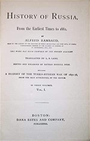 A Popular History of Russia, From the Earliest Times to 1882: Rambaud, Arthur
