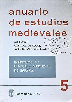 Anuario De Estudios Medievales 5: Adjectivos De: Duncan, R.M.