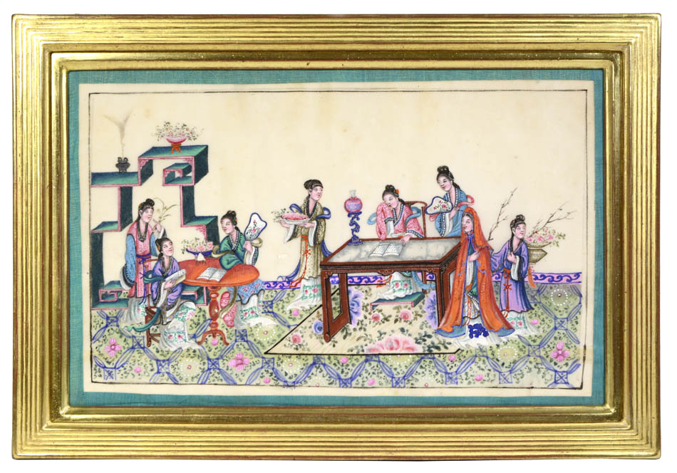 Courtly Ladies at Leisure [CHINESE SCHOOL].