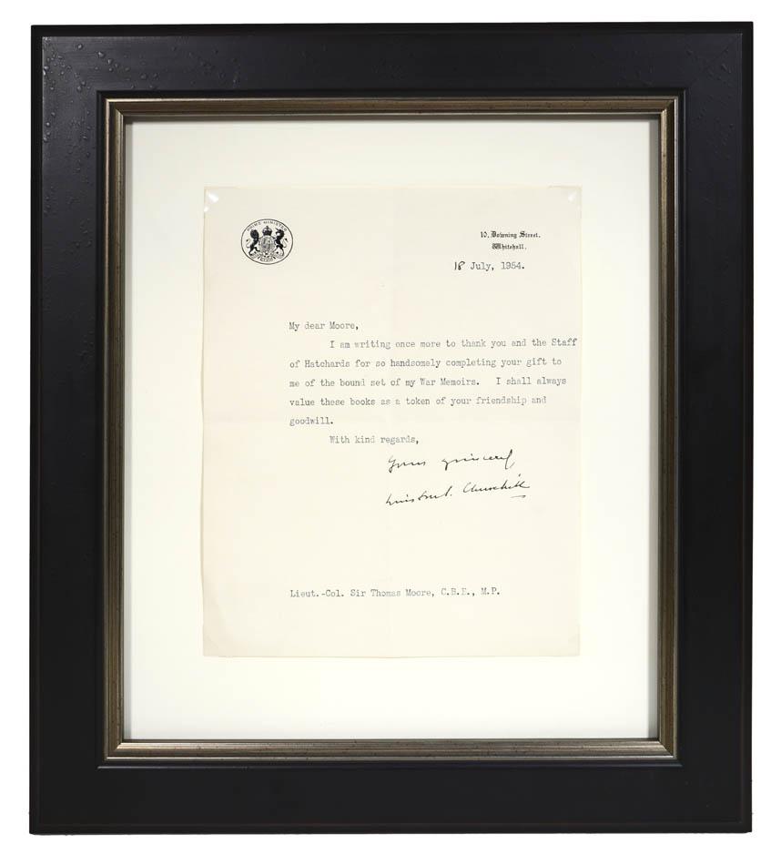 Typed letter signed 'Winston S. Churchill' to: CHURCHILL, Winston Spencer.