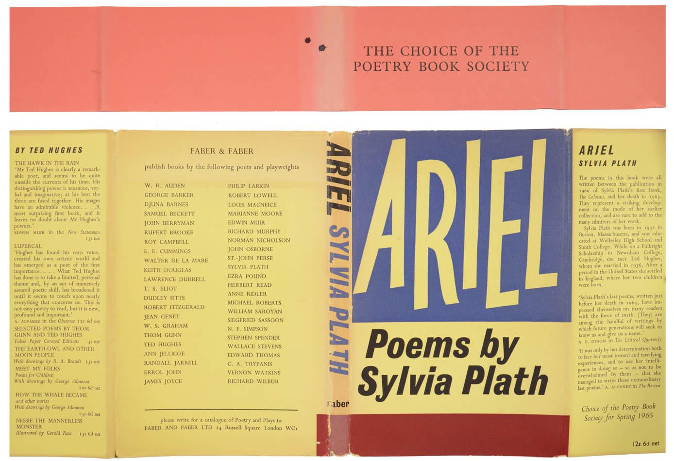 Ariel Von Plath Sylvia London Faber And Faber Shapero
