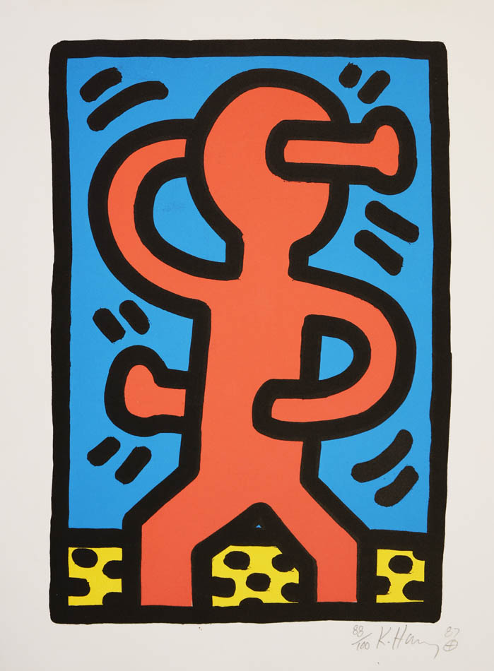 Untitled 1987.: HARING, Keith.