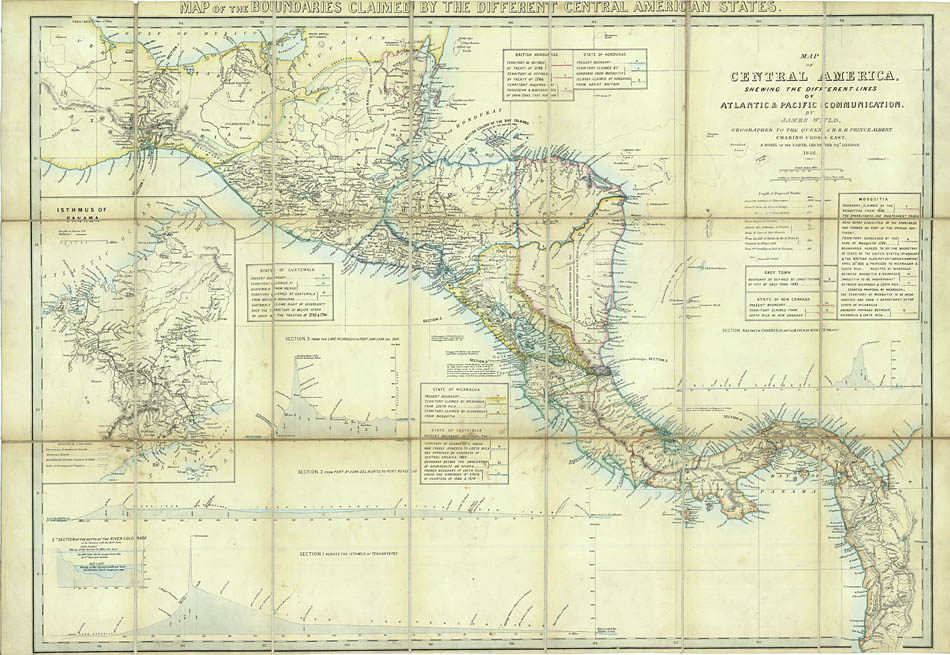 Map of Central America showing the different: WYLD, James.