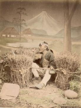 Country Peasant.: KUSAKABE, Kimbei (attributed